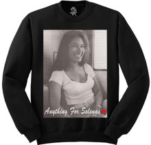 Anything For Selenas Black Crewneck