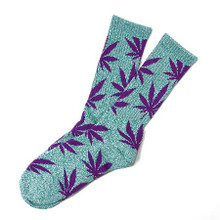 HUF Plantlife Crew Socks Jade Heather/Purple