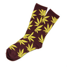 HUF Plantlife Crew Socks Wine/Gold