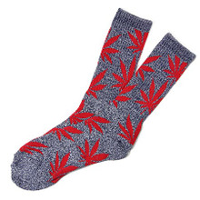 HUF Plantlife Crew Socks Navy Heather/Red
