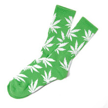 HUF Plantlife Crew Socks Lime/White