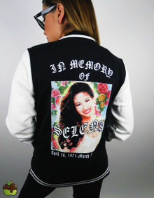 Apple Sauced In Memory Of Selena Varsity Jacket
