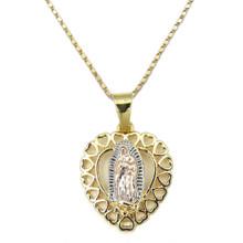 Virgen De Guadalupe Heart Necklace (14k Gold Plated)