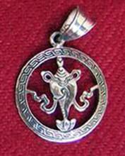 Conch Auspicious Symbol Pendant