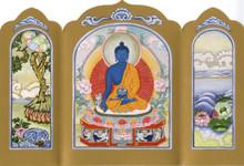 Medicine Buddha - Traveling Altar Card