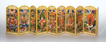 Nine Manifestations of Padmasambhava (Guru Rinpoche) - Accordion Altar Card