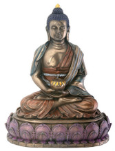 Buddha Amitabha Bronze Finish Resin Statue