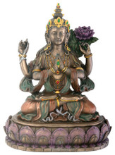 Chenrezig (Avalokiteshvara) Bronze Finish Resin Statue