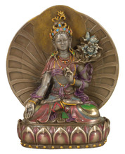 White Tara Bronze Finish Resin Statue