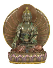 Medicine Buddha Resin Statue with Gyab Yol