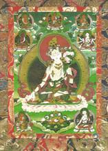 White Tara Deity Card