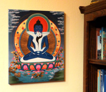 Kunzang Yab Yum (Samantabhadra with Consort) Canvas Print 20""