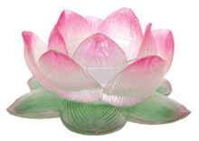 Clear Lotus Tea Light Votive Holder