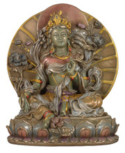 Green Tara Medium Resin Statue
