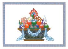 The Seven Precious Jewels of Chakravartin Greeting Card