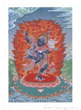 Dorje Phagmo Deity Card Print, by Kumar Lama