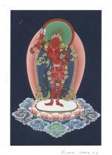 Vajrayogini Deity Card Print, by Kumar Lama