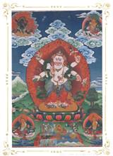 White Mahakala Deity Card Print, by Kumar Lama