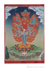 Guru Dragpo Kilaya Deity Card Print, by Kumar Lama