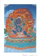 Vajrapani Deity Card Print, by Kumar Lama
