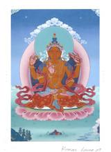 Prajnaparamita Yum Chenmo (Great Mother) Deity Card Print, by Kumar Lama