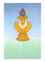 Treasure Vase: Eight Auspicious Symbols Card, by Kumar Lama