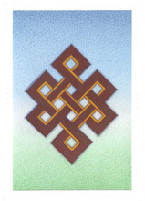 The Endless Knot: Eight Auspicious Symbols Card, by Kumar Lama