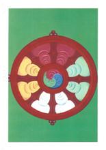 The Wheel: Eight Auspicious Symbols Card, by Kumar Lama