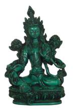 Resin Green Tara Statue