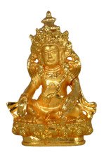 Small Metal Golden Dzambhala Statue