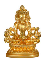 Small Metal Golden Amitayus Statue