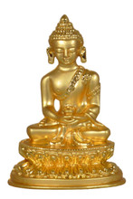 Small Metal Golden Amitabha Statue
