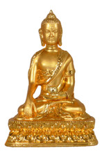 Small Metal Golden Shakyamuni Buddha Statue