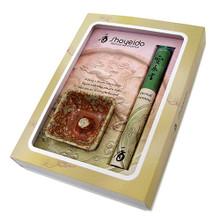 "One 40-stick bundle of Eternal Treasure, 5.25"" One mini tray-shaped Incense Holder, 2 1/4"" x 2 1/4"""