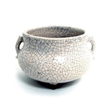 """Approx. 4"""" wide x 3"""" tall (Please note: due to the uniqueness of all handcrafted and hand-glazed pottery, variations in glaze colors and effects are common. The piece you receive will not exactly match the image displayed.)"""