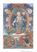 Standing Chenrezig (Classic Style) Deity Card Print, by Kumar Lama