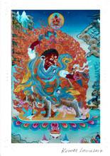Dorje Drolo Deity Card Print, by Kumar Lama (Card 2)
