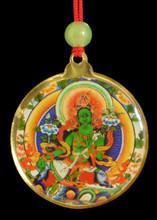 Green tara round deity pendant dharma treasures green tara round deity pendant mozeypictures Gallery