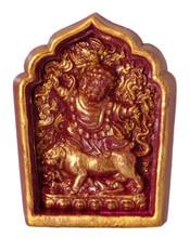 Burgundy and Gold Painted Dorje Drollo Tsa Tsa