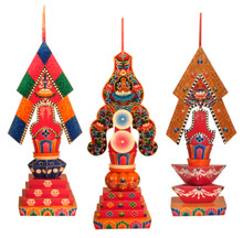 Wooden Longchen Nying Tik Torma Set