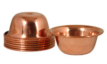 Simple Copper Offering Bowl Set