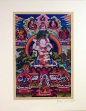 Print of Vajrasattva Yab Yum Thangka by Kumar Lama