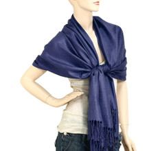Navy Blue Pashmina Shawl
