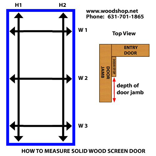 how to build a screen door out of wood