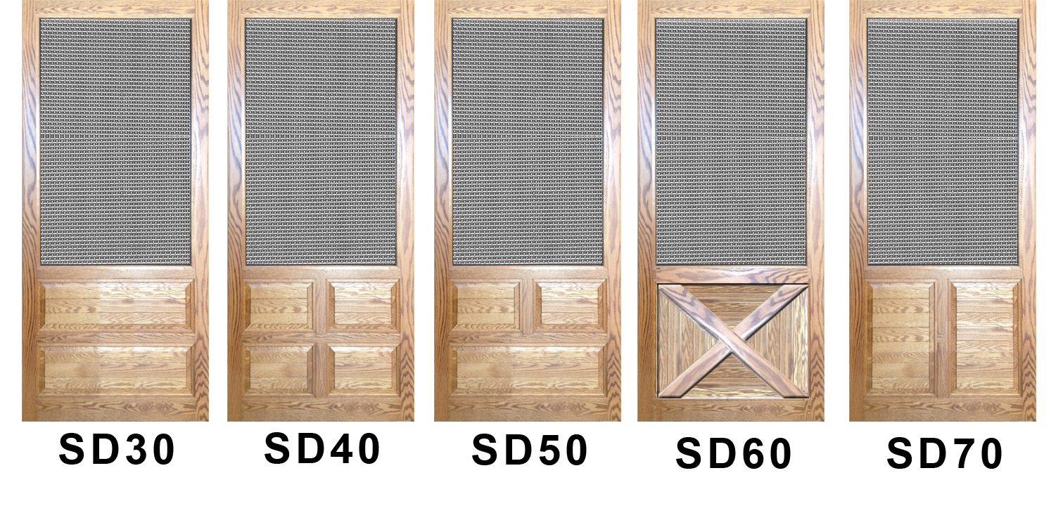 Solid Wood Security Screen Doors