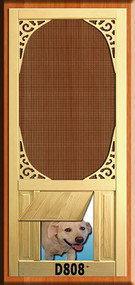 PET WOOD SCREEN DOOR #D808