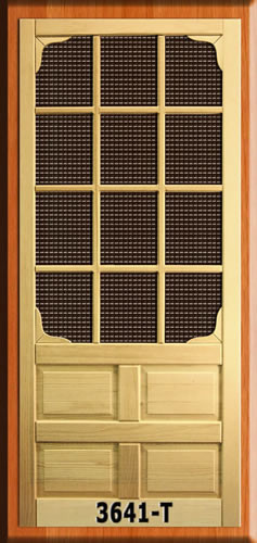 Old Fashioned Security Screen Doors