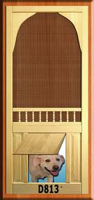 PET WOOD SCREEN DOOR #D813