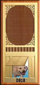 PET WOOD SCREEN DOOR #D818