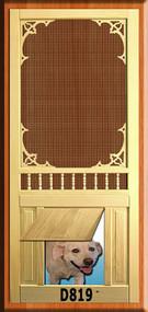 PET WOOD SCREEN DOOR #D819